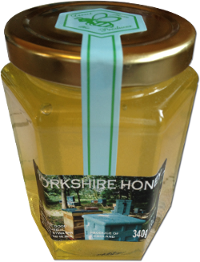 Our honey in a jar ready for packing